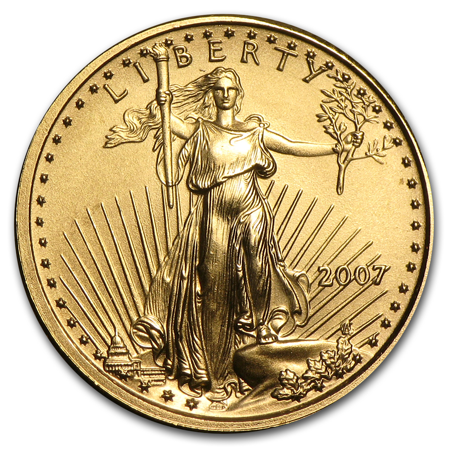 2007 1/10 oz Gold American Eagle BU